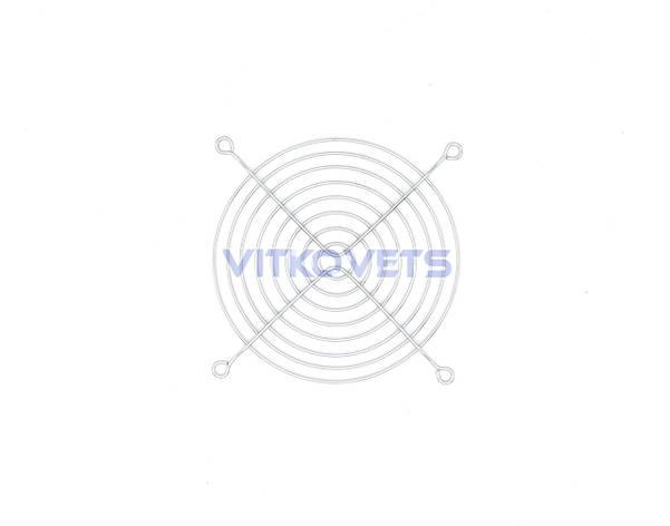 Металлическая решетка FG-12 для вентилятора 120x120мм, фото 2