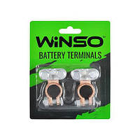 Клемы аккумуляторные WINSO 2 шт. блистер, цынк, медное покритие, 146700