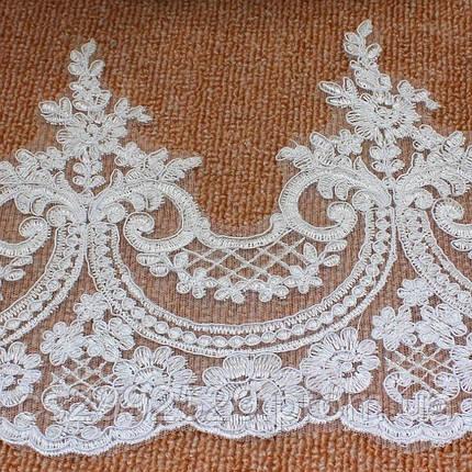 Бант тесьма 18,4м белый.Свадебное кружево, фото 2
