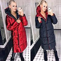 """Модная двухсторонняя женская куртка """"Дуэт"""" теплая зимняя Много расцветок"""