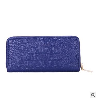 Синий женский кошелек из экокожи