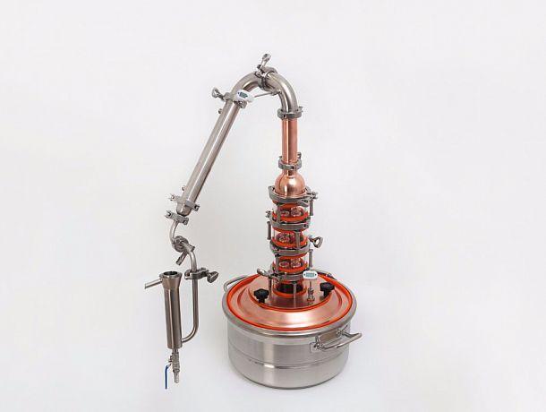 Универсальный дистиллятор Доктор Губер «Арома» (нержавейка + медь) с кубом на 21 литров, фото 1