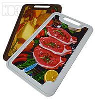 """Доска разделочная пластиковая 20×32 см с фотопринтом для кухни """"ПолимерАгро"""""""