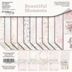 Набор двусторонней бумаги 20х20см от Scrapmir Beautiful Moments 11шт
