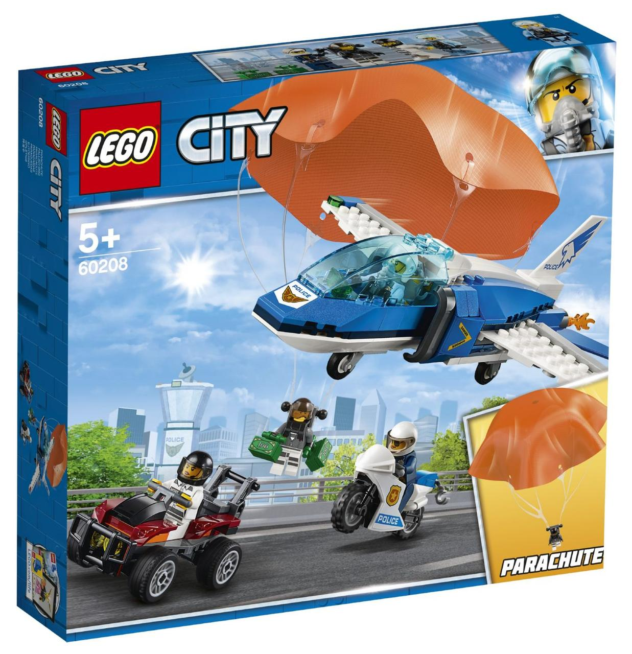 Lego City Повітряна поліція: арешт парашутиста 60208