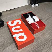 Мужские носки Supreme Pack 3 Black/White/Red Реплика, фото 1