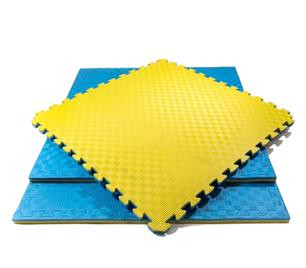 Cпортивный мат - татами «ласточкин хвост» SportMax (EVA 40мм, размер 1х1м, Турция)