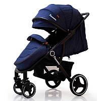 Детская прогулочная коляска книжка  Panamera C689 Blue (Black)