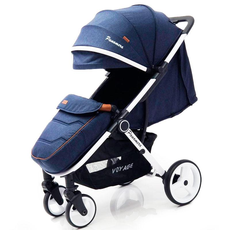 Детская прогулочная коляска книжка  Panamera C689 Blue (White)