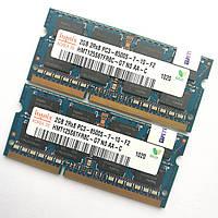 Пара оперативной памяти для ноутбука Hynix SODIMM DDR3 4Gb (2+2) 1066MHz 8500 (HMT125S6TFR8C-G7 NO AA-C) Б/У, фото 1