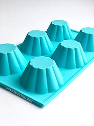 Силиконовая форма для выпечки в духовке (Кекс)