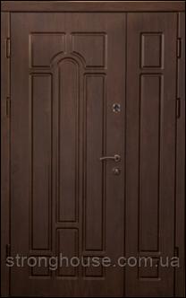 Арка Темный орех. Дверь входная уличная для коттеджа 2030*1200
