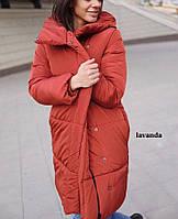 Женская длинная куртка зимняя в разных цветах, фото 1