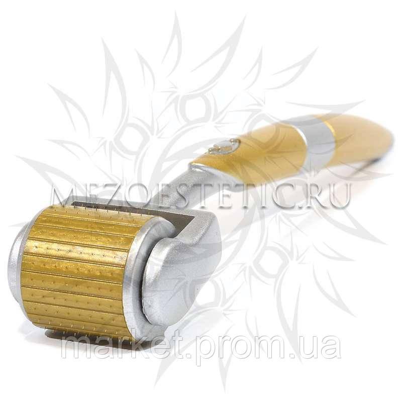 Мезороллер ZGTS для лица и тела с титановыми позолоченными микроиглами, 192 игл