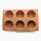 Силиконовая форма для выпечки в духовке (Кекс) коричневая, фото 4