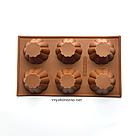 Силиконовая форма для выпечки в духовке (Кекс) коричневая, фото 2