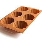 Силиконовая форма для выпечки в духовке (Кекс) коричневая, фото 3