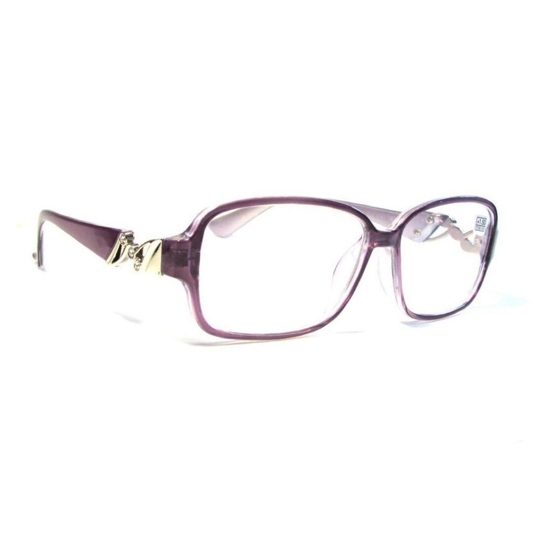 Женские очки в пластмассовой оправе с белой линзой