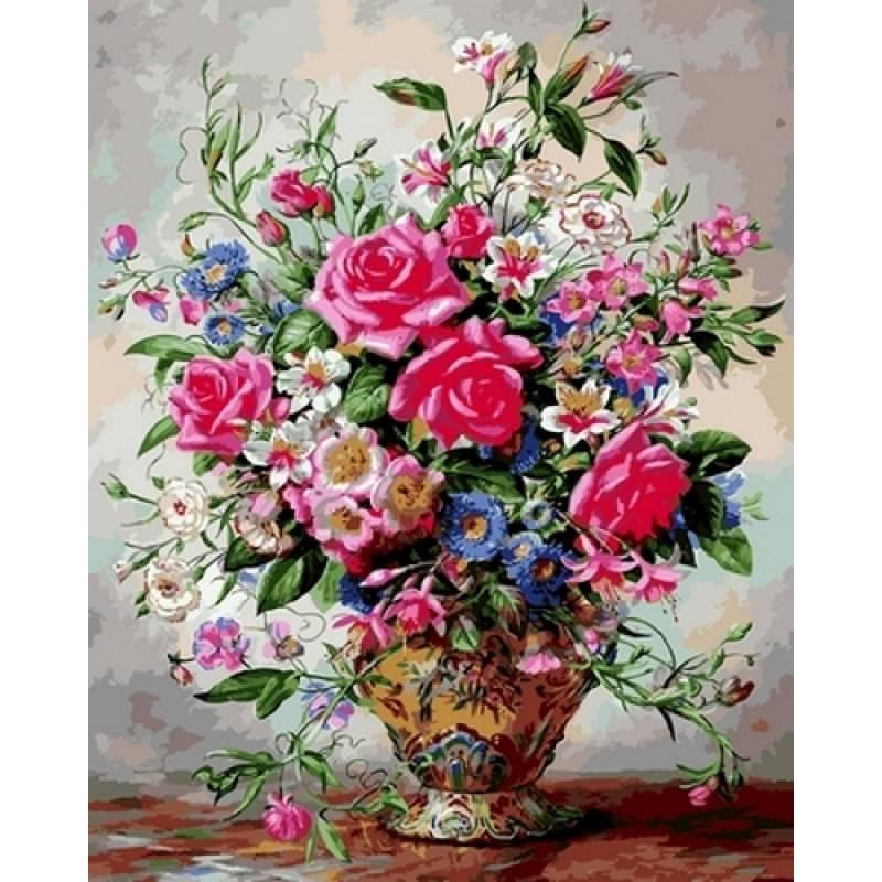 Картина по номерам Розы и лилии, 40x50 см., Babylon