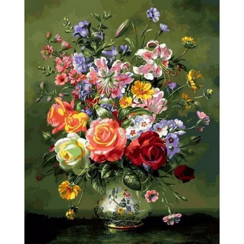 Картина по номерам Цветочная композиция, 40x50 см., Babylon