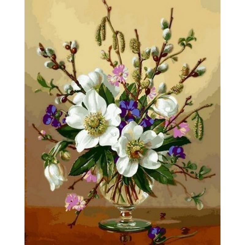 Картина по номерам Весенний букет, 40x50 см., Babylon