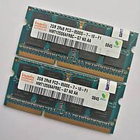Комплект оперативной памяти для ноутбука Hynix SODIMM DDR3 4Gb (2+2) 1066MHz 8500 (HMT125S6AFR8C-G7 NO AA) Б/У, фото 1