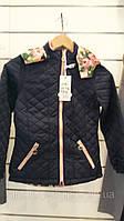 Детская весенняя двусторонняя  куртка для девочки на 6 ,  7 лет