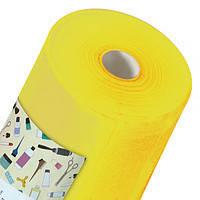 Простынь одноразовая Panni Mlada материала спанбонд 0,6м*100м., 20 г/м2 Желтый