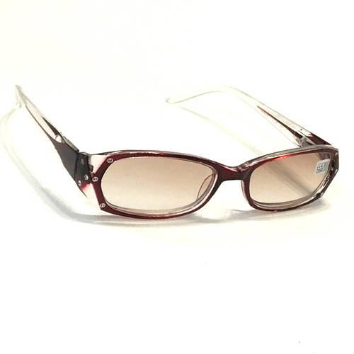 Женские очки для зрения с тонированной линзой