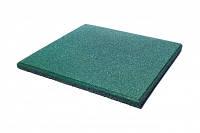Яркая Резиновая плитка для детской площадки - зеленая, фото 1