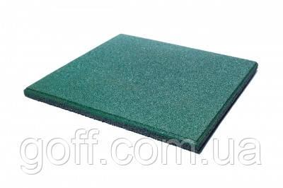 Яркая Резиновая плитка для детской площадки - зеленая