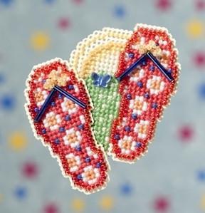 Набор для вышивки Mill Hill Flip Flops / Плепки