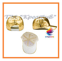Золотые кепки оптом  с вашим логотипом (пошив от 100 шт.), фото 1