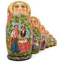 Матрешка 7 кук. Украинский сюжет (22см)