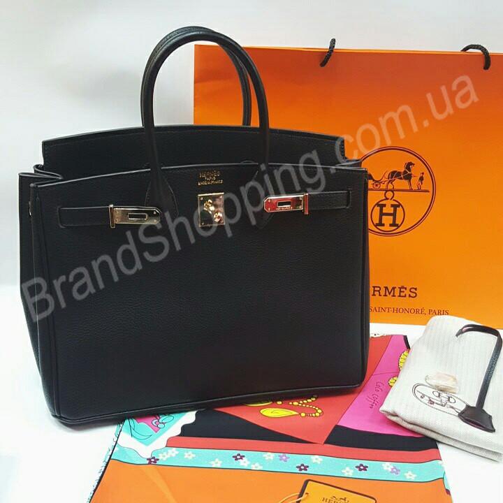 dfc948cac3f9 Оригинальная женская кожаная сумка Hermes birkin черная 0713 - The style  shop в Харькове