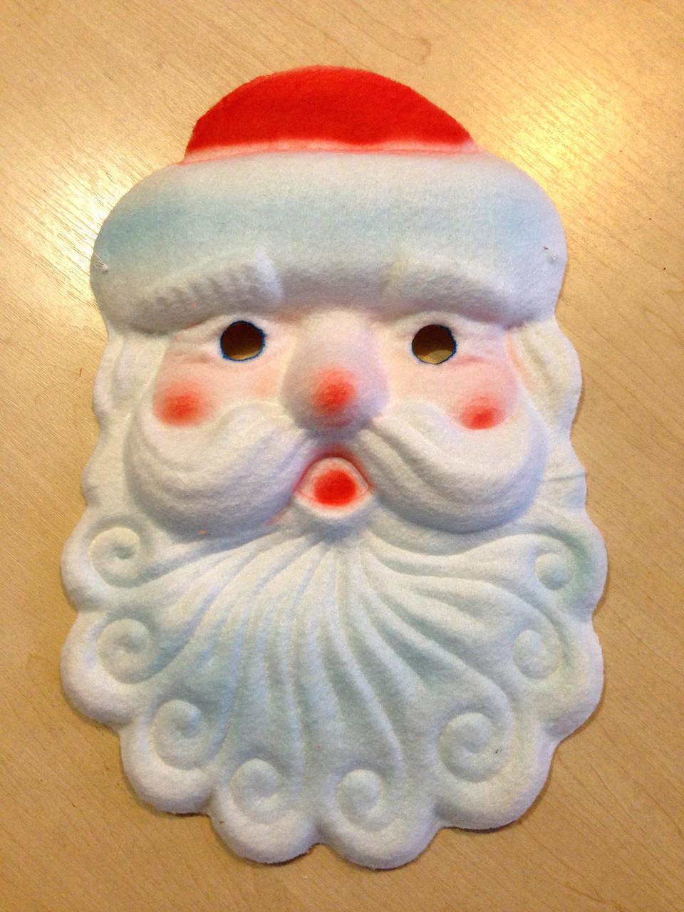 Маска карнавальная Bonita детская Дед Мороз белая
