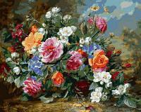 """VP 1049 """"Роскошные розы"""" Картина по номерам на холсте 40х50см"""