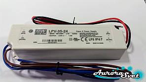 Led драйвер LPV-35-24-LED DRIVER. Драйвер світлодіода MEANWELL