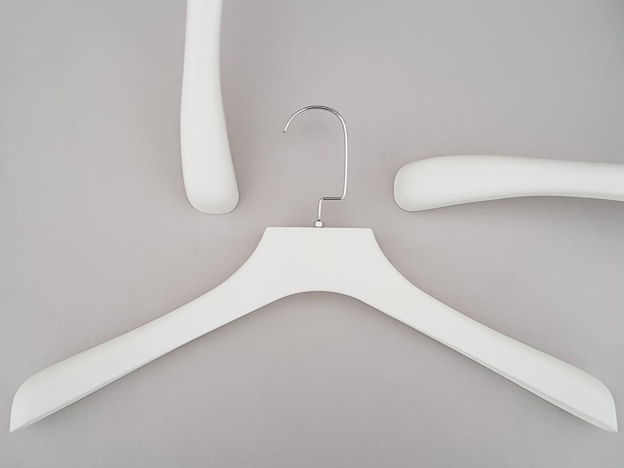 "Длина 45 см. Плечики вешалки пластмассовые TZ0066  ""под дерево"" белого цвета"