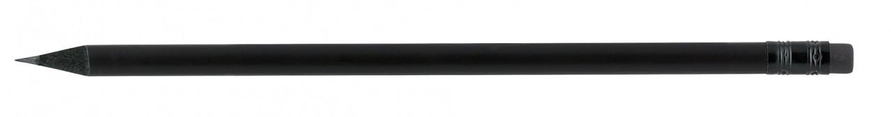Карандаш чернографитный Optima Promo HB корпус черный, заостренный с резинкой