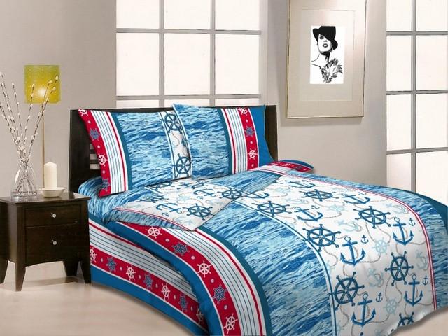 Полуторный комплект постельного белья 4074/1 Морской бриз