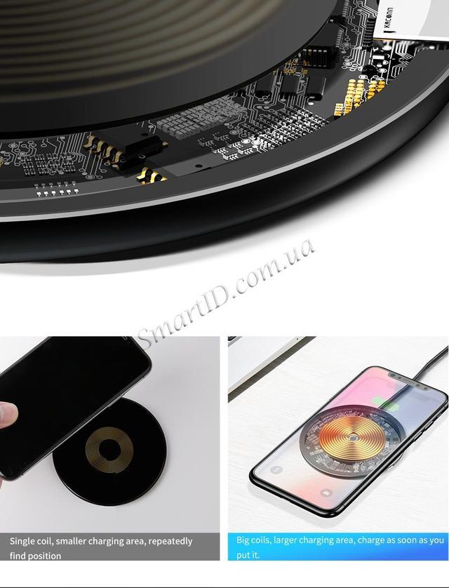 Беспроводное зарядное устройство Baseus Simple Wireless Charger  Черное (CCALL-AJK01)