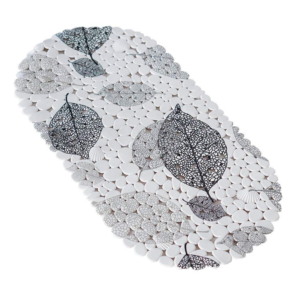 Коврик в ванную комнату антискользящий резиновый 69х35 см Leaves Bathlux Hojas 40032