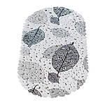 Коврик в ванную комнату антискользящий резиновый 69х35 см Leaves Bathlux Hojas 40032, фото 4