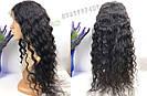 🖤 Парик черная волна на сетке с имитацией кожи из натуральных волос, фото 5