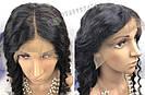 🖤 Парик черная волна на сетке с имитацией кожи из натуральных волос, фото 6