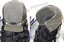 🖤 Парик черная волна на сетке с имитацией кожи из натуральных волос, фото 9