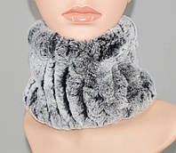 Меховой теплый шарф - хомут, снуд.