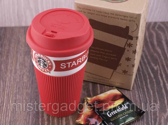 Термочашка Starbucks 400мл Керамическая кружка Старбакс, фото 2