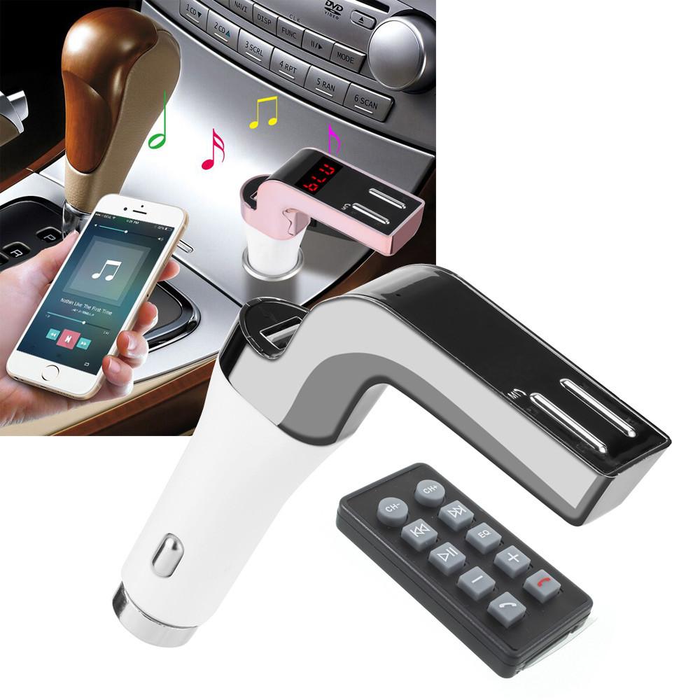 Авто Трансмиттер Модулятор для Автомобиля CAR 590 8 в 1 Bluetooth 2 USB  FM приемник MP3 плеер радио блютуз